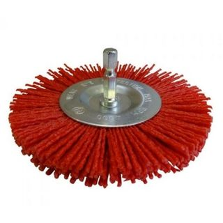RED ABRASIVE SPINDLE BRUSH