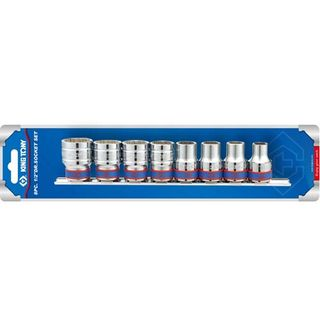 8pc 1/2'Dr 10-22mm 12pt Sockets on Rail- CLEARANCE SALE PRICE 40% DISCOUNT