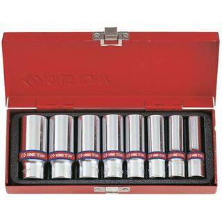 8pc 3/8'Dr 3/8'-13/16' 6pt Deep Socket Set- CLEARANCE SALE PRICE 40% DISCOUNT