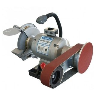 """8""""- 200mm Heavy Duty Bench Grinder fitted with Linishall attachment (915 x 50mm belt & disc) - Linishall"""