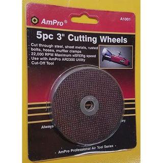 "5pce 3"" Cut Off Wheels for AR2300 - Ampro"