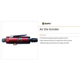 Gearless Angle Head Air Die Grinder & Sander complete with 6mm Collet - Ampro