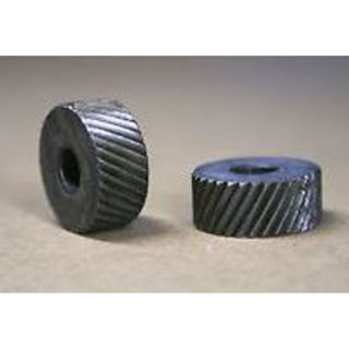 HSS  Knurl Wheel 3/4' D x 3/8'W x 1/4' Hole - Coarse Straight