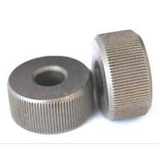 HSS Knurl Wheel 3/4'D x 3/8' W x 1/4' Hole  Fine Straight