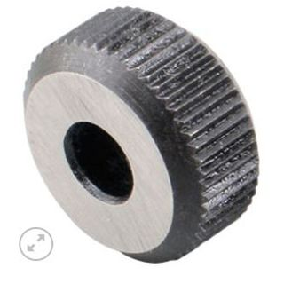 Groz HSS  Knurl Wheel 3/4' D x 1/4'W x 1/4' Hole - Medium Straight