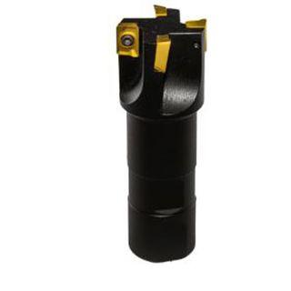 Zenit 4 Flute Milling Cutter D=32, Shank=32, L-125 (Uses APKT 1003 inserts)