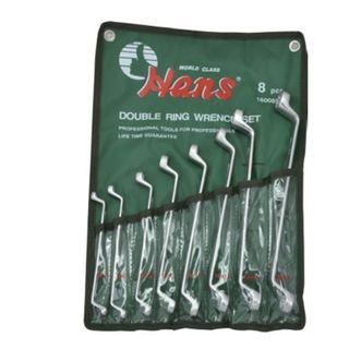 6mm - 22mm 75deg 8pc Double Ring wrench Set - HANS