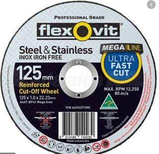 125 x 1 x 22 INOX T41 Cut-Off Disc- Flexovit