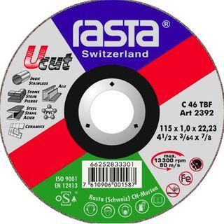 Rasta Uni-Cut Off Disc 115x1mm Suitable for stainless steel , tiles,marble, Aluminium, steel