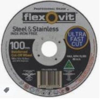 100 x 1 x 22 INOX T41 Cut-Off Disc - Flexovit