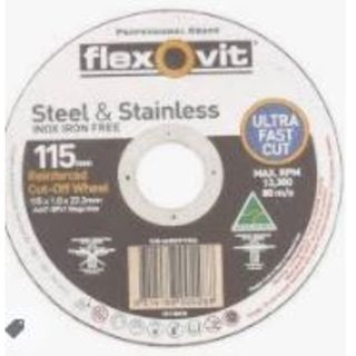 115 x 1 x 22 INOX T41 Cut-Off Disc- Flexovit