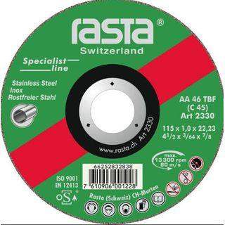 180 x 1.6 x 22 INOX RASTA Cut-Off Disc