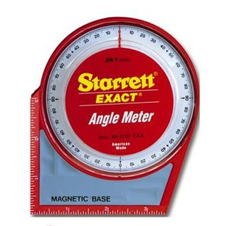 Angle Meter 125mm/5' x 125mm/5' Dial type c/w magnetic base - Starrett