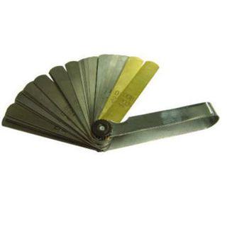 .05mm - 0.38mm x 100mm 16 Blade Tapered Feeler Gauge Met/Imp - Toledo