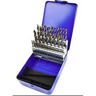 1-13mm x .5mm rises HSS Jobber Drill Set - 25pc Metal Case