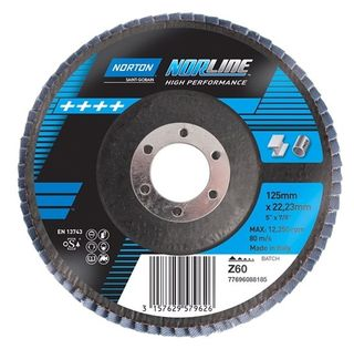 125mm x 22mm x Z60 High Performance Flap Disc - Norline