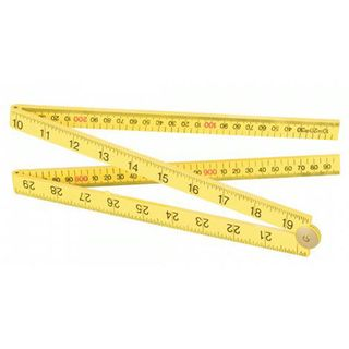1m/39' 16mm Yellow ABS Folding Rule - Fisco