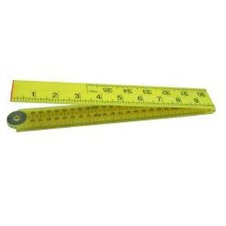 1m/39' 16mm Yellow ABS Folding Rule - Bevel Edge