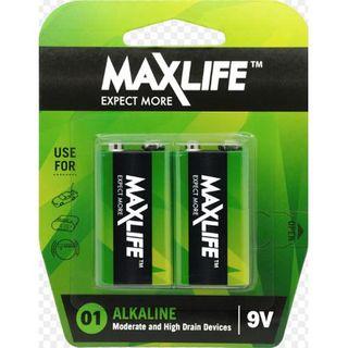 9 Volt Max Long-Life Battery Alkaline Packet 2
