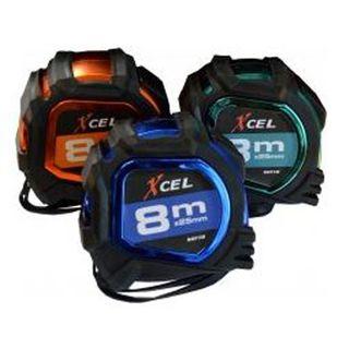 Xcel 8Metre x 25mm  Tape - Black Soft Touch Case - Low Sheen Blade
