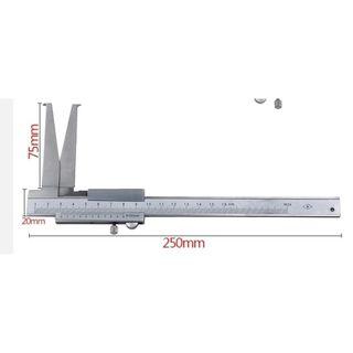 10-160mm x .02mm Grad.  Inside Groove Long Jaw Vernier Caliper in case - DTD
