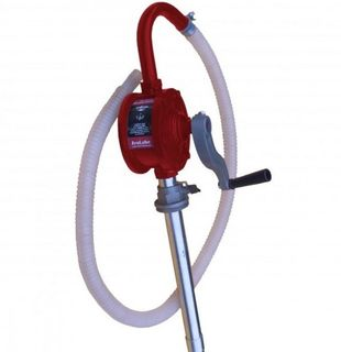 18LPM Rotary Drum Pump, suits 205 & 60litre drum, suitable for oil, petrol, diesel, kerosene & low visc oil, 2.2m of hose, can syphon & transfer in reverse