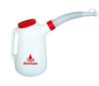 1Litre Polypropylene Oil Measure c/w Flex Spout - Alemlube