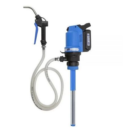 Battery Operated Pump Starter Kit - Complete with  18V rechargeable battery, hose & Gun Assembly, Pump Stem, Powerhead - Macnaught (suitable for oils upto SAE75W90)