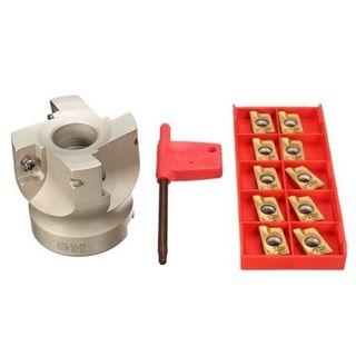 50mm x 22 Spigot Face Mill Cutter - c/w Pkt 10  APKT1604 Milling Inserts - Drillpro