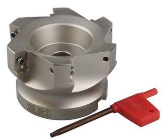 80mm x 27mm Spigot x 6 Insert Face Mill Cutter - Takes APMT1604PDER - H2 ZP1521 Inserts