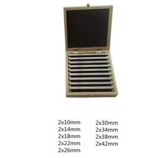 9 Pairs 4 x 100mm Precision Parallel Set in Wooden Case