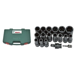 10mm - 30mm 18 pc Deep Impact Socket Set  in ABS Case - Hans Tools
