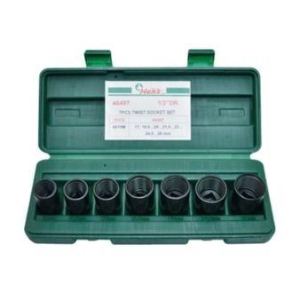 17-26mm  7pce 1/2' Dr. Lock-Nut Remover Socket Set in ABS Case  - Hans