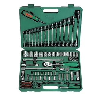 """3.50-14mm 1/4"""" Dr. & 10-34mm 1/2"""" Dr.Metric/Imp.95 Pce  Ind. Tool Kit in ABS Case - Hans"""