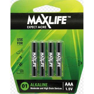 'AAA' Max Long-Life Battery Alkaline Packet 4