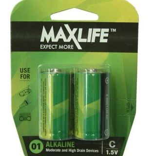 'C' Max Long-Life Battery Alkaline Packet 2