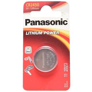 CR2450 3V Lithium Button Cell Battery Watches,clocks,hearing aids - Panasonic