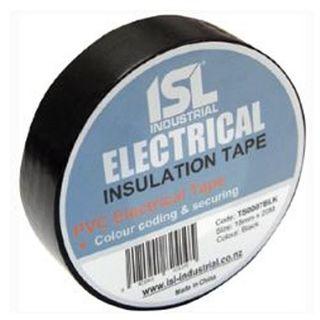 18mm x 20M Black PVC Insulation Tape  - Pkt10 - ISL