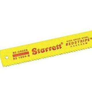 Starrett Red Stripe 24T HSS All Hard Hand Hacksaw Blade 12'/24tpi 10 pcs