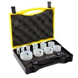 Tradesman Bimetal Holesaw Kit 12 pce - Alpha(16,19,22,29,35,38,44,51,54,64mm )