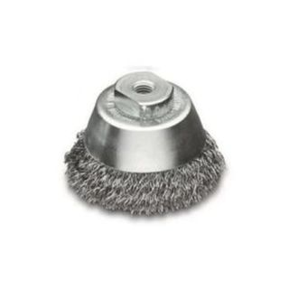 60mm M10x1.5 Crimped Wire Cup Brush - LESSMAN