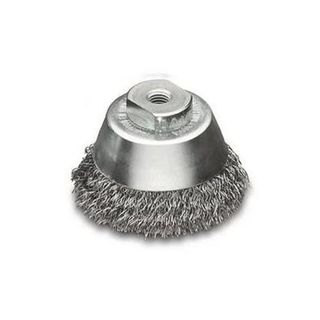 60mm M14x2.0 Crimped Wire Cup Brush - LESSMAN