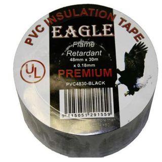 48mm x 30M Black Insulation Tape Pkt 5  - Eagle