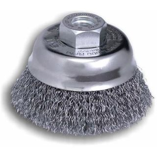 80mm M10x1.5 Crimped Wire Cup Brush - SIT