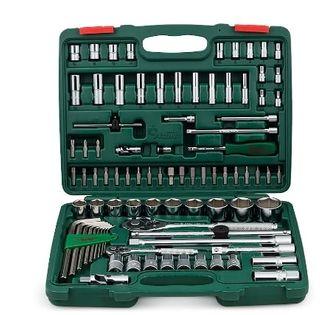 4-14mm Strd Skt &5-14mm Deep Skt 1/4' Dr. & 10-32mm 1/2' Dr. 88pce Universal Tool Kit ABS Case - Hans