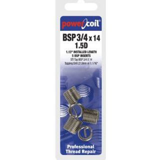 1/4' - 19 BSP X 1.5D  Powercoil Inserts Pkt of 10
