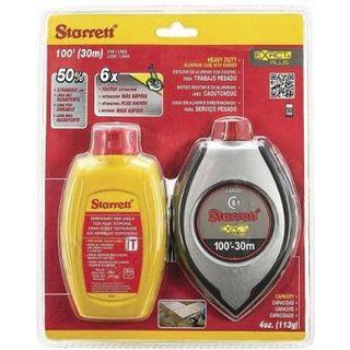 Starrett Reel-Fast Chalk Line/Chalk combo 30M/100ft Yellow