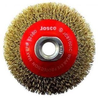 100 x 20mm x 0.30 MT Thread Crimped Bevel Brush 12,500rpm - Clamshell - Josco
