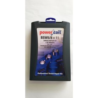 Powercoil 5/8'-11 BSW Thread Repair Kit-Includes 10 inserts.16.7 mm Drill required.