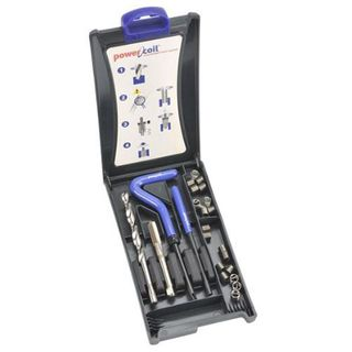 """Powercoil 3/8 - 18 NPT Thread Repair Kit-Includes 10 inserts.21/32"""" Drill required."""